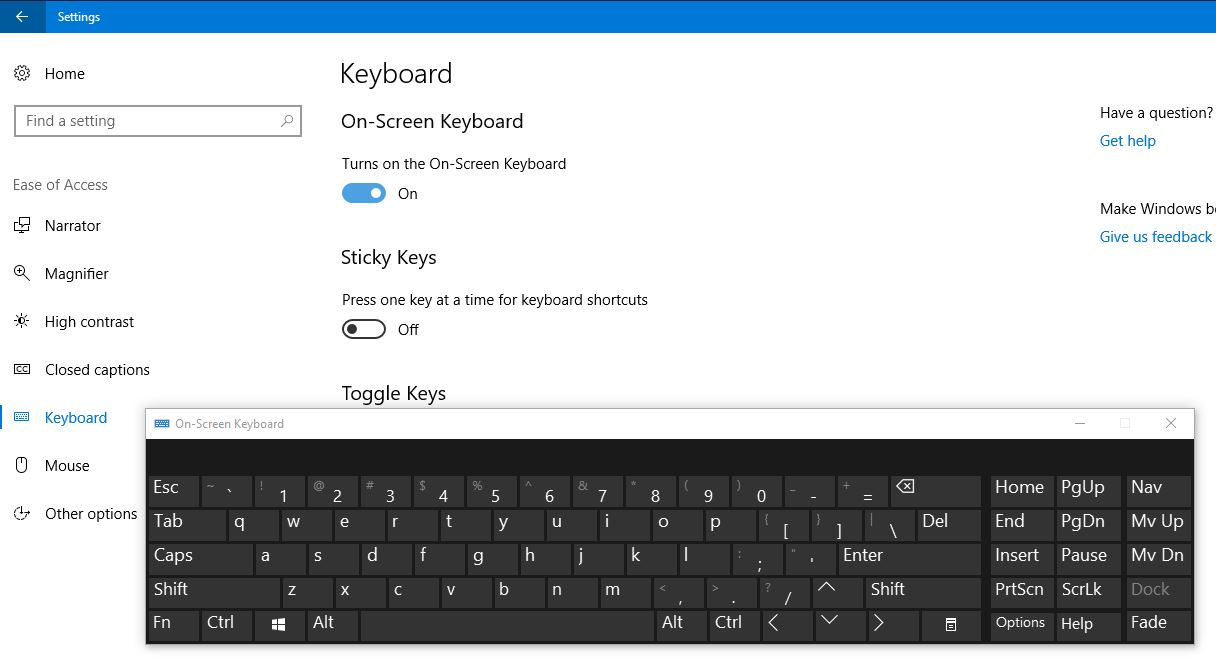 This is how to enable On-Screen Keyboard OSK in Windows 10.